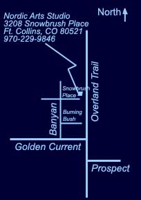 Map to 3208 Snowbrush Place, Ft. Collins
